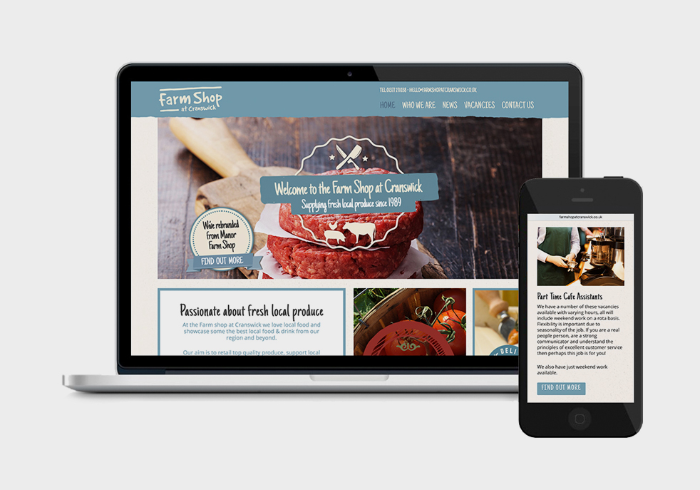 Farmshop screens web design hull th3 design design for Home decor hull limited